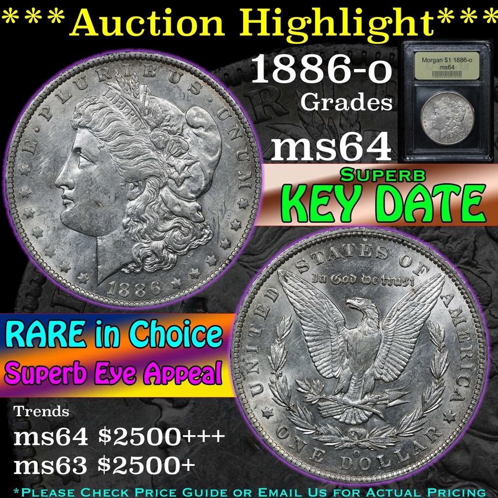 ***Auction Highlight*** 1886-o Morgan Dollar $1 Graded Choice Unc By USCG (fc)