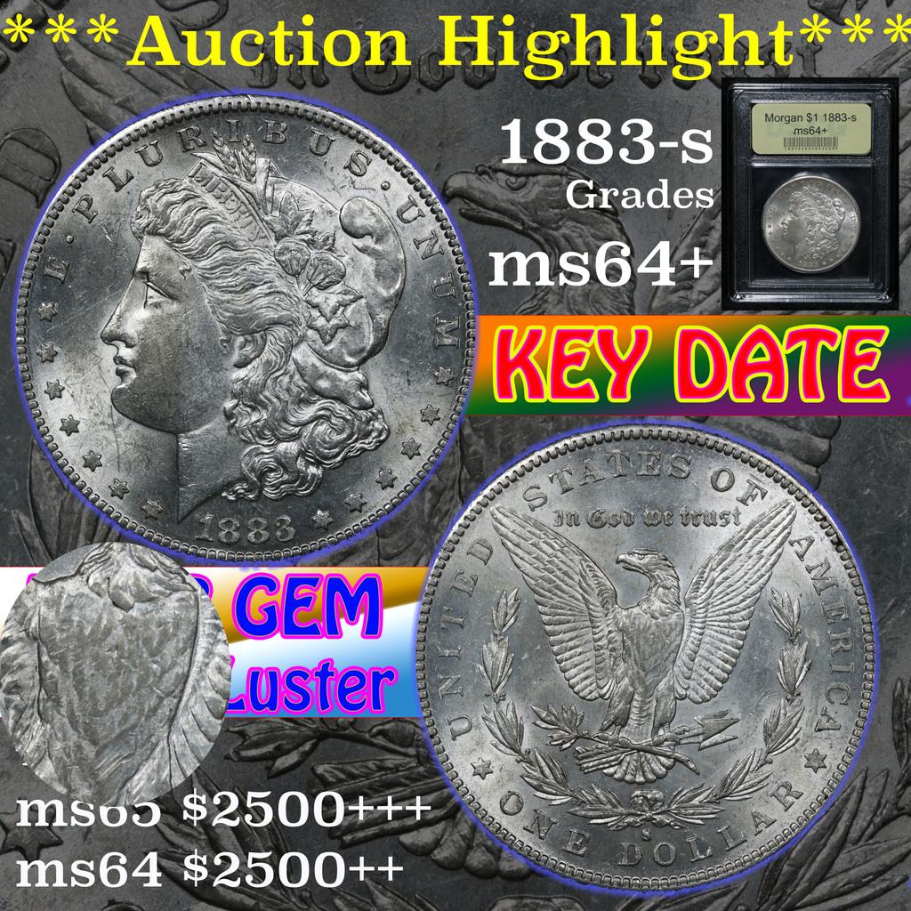 ***Auction Highlight*** 1883-s Morgan Dollar $1 Graded Choice+ Unc By USCG (fc)