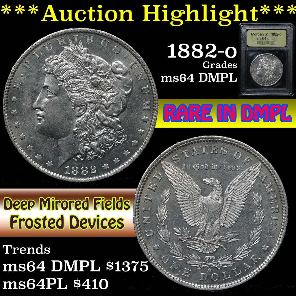***Auction Highlight*** 1882-o Morgan Dollar $1 Graded Choice Unc DMPL By USCG (fc)