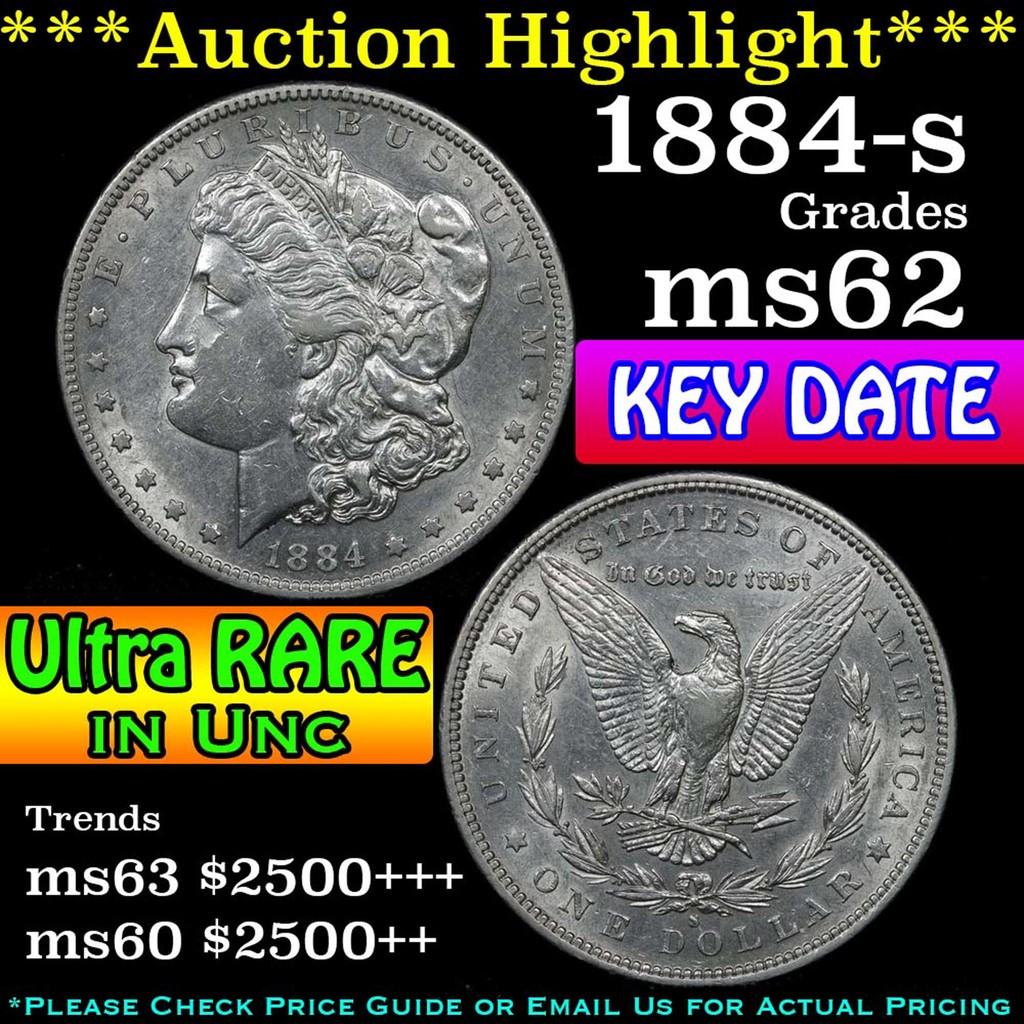***Auction Highlight*** 1884-s Morgan Dollar $1 Grades Select Unc (fc)
