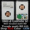 NGC 1961-d Lincoln Cent 1c Graded ms65 rd By NGC