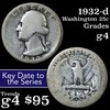 1932-d Washington Quarter 25c Grades g, good
