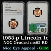 NGC 1956-p Lincoln Cent 1c Graded ms65 rd By NGC
