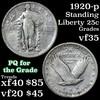 1920-p Standing Liberty Quarter 25c Grades vf++