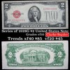 1928G $2 Red Seal United States Note Grades xf+