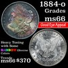 1884-o Morgan Dollar $1 Grades GEM+ Unc