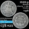1849-p Seated Liberty Half Dime 1/2 10c Grades vg, very good