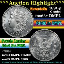 1891-s Morgan Dollar $1 Grades Select Unc+ DMPL