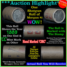 Auction Highlight* Morgan dollar roll ends 1889 &