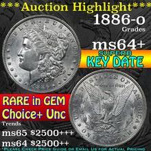 1886-o Morgan Dollar $1 Grades Choice+ Unc (fc)