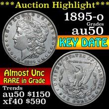 1895-o Morgan Dollar $1 Grades AU, Almost Unc (fc)