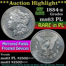 1884-s Morgan Dollar $1 Grades Select Unc PL (fc)