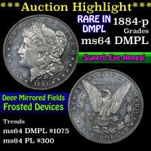 1884-p Morgan Dollar $1 Grades Choice Unc DMPL (fc