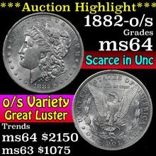 1882-o/s Morgan Dollar $1 Grades Choice Unc (fc)