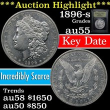 1896-s Morgan Dollar $1 Grades Choice AU (fc)
