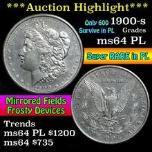 1900-s Morgan Dollar $1 Grades Choice Unc PL (fc)