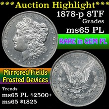 1878-p 8tf Morgan Dollar $1 Grades GEM Unc PL (fc)