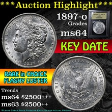 1897-o Morgan Dollar $1 Graded Choice Unc by USCG
