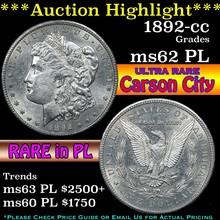 1892-cc Morgan Dollar $1 Grades Select Unc PL (fc)
