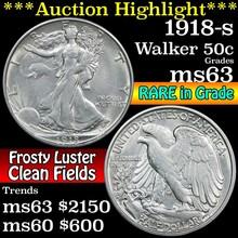 1918-s Walking Liberty Half Dollar 50c Grades