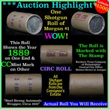 Auction Highlight* Morgan dollar roll ends 1889 &