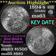 1894-s Morgan Dollar $1 Graded Select Unc by USCG