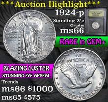 1924-p Standing Liberty Quarter 25c Graded GEM+