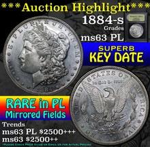1884-s Morgan Dollar $1 Graded Select Unc PL USCG