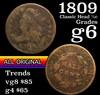 1809 Classic Head half cent 1/2c Grades g+