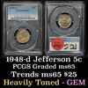 PCGS 1948-d Jefferson Nickel 5c Graded ms65 by PCGS