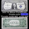 1957 $1 Blue Seal Silver Certificate Grades Select AU