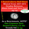 5 Seated Liberty Half Dime 1/2 10c Grades ag-vg