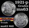 1921-p Morgan Dollar $1 Grades Select Unc