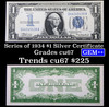 "**Auction Highlight** 1934 $1 Blue Seal  ""Funny Back"" Silver Certificate Grades Gem++ CU (fc)"