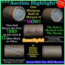 All Carson City Morgan $1 roll ends 1889 &