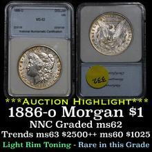 1886-o Morgan Dollar $1 Graded ms62 by NNC (fc)
