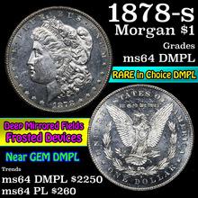 1878-s Morgan Dollar $1 Grades Choice Unc DMPL