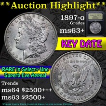 1897-o Morgan Dollar $1 Graded Select+ Unc by USCG