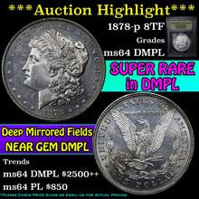 1878-p 8tf Morgan Dollar $1 Graded Choice Unc DMPL