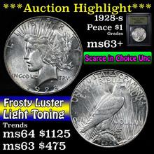 1928-s Peace Dollar $1 Grades Select+ Unc (fc)