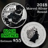2018 Black Panther Marvel Silver Round .999 Fine 1 oz. Grades ms70, Perfection