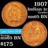 1907 Indian Cent 1c Grades GEM Unc BN