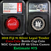 NGC 2018 Fiji S Coca Cola Bottle Cap Graded pf69 by NGC