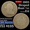 1805 Draped Bust Half Cent 1/2c Grades f, fine