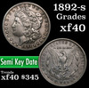 1892-s Morgan Dollar $1 Grades xf