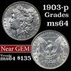 1903-p Morgan Dollar $1 Grades Choice Unc (fc)