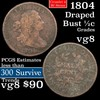 1804 Draped Bust Half Cent 1/2c Grades vg, very good