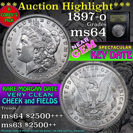 ***Auction Highlight*** 1897-o Morgan Dollar $1 Graded Choice Unc by USCG (fc)