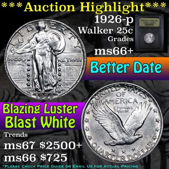 ***Auction Highlight*** 1926-p Standing Liberty Quarter 25c Graded GEM++ Unc by USCG (fc)