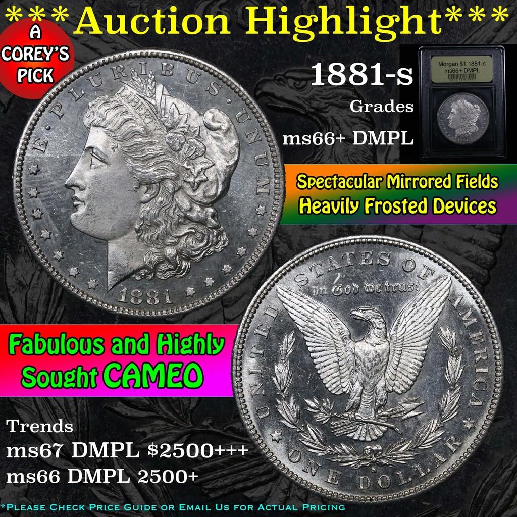 ***Auction Highlight*** 1881-s Morgan Dollar $1 Graded GEM++ DMPL by USCG (fc)
